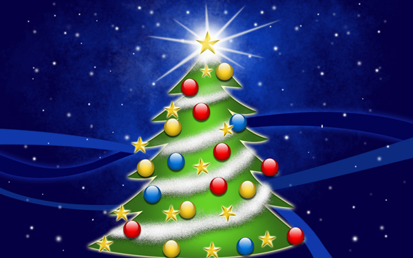 Árbol de Navidad Gratis para Tarjetas
