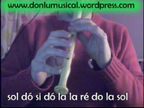 Feliz Navidad en Flauta, Notas Musicales