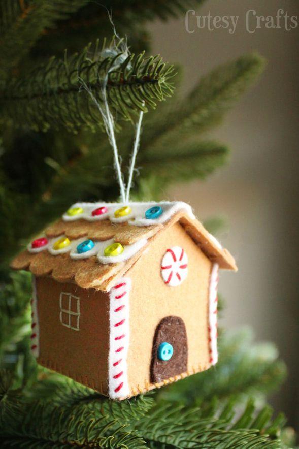 Adorno de casa navidad