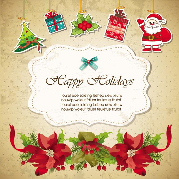 Bonitas Tarjeta de Invitación de Navidad