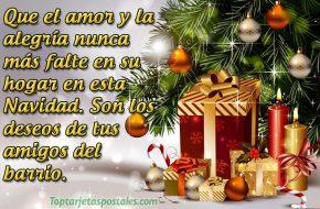 Tarjetas de navidad con Frases para Saludar
