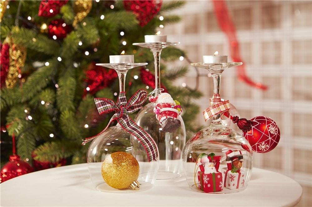 Copas de navidad y año nuevo
