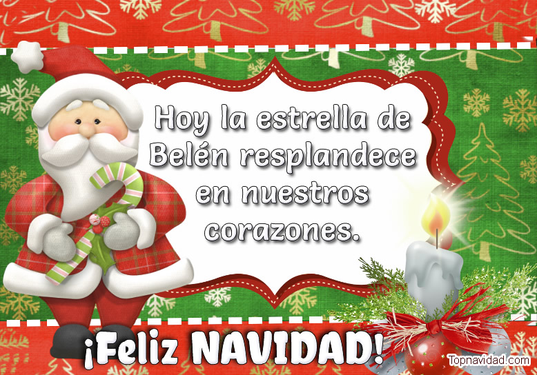 Felicitaciones Bonitas de Navidad para Regalar
