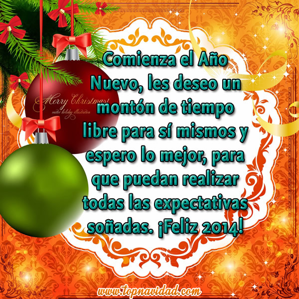 Felicitaciones de Año Nuevo 2014 para Compartir