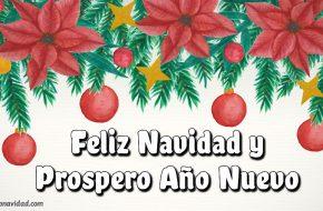 Felicitaciones de Navidad y Año Nuevo