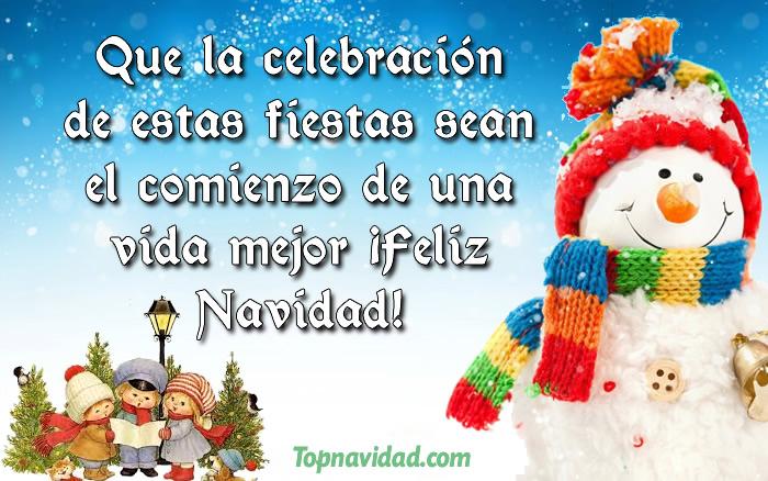 Felicitaciones de navidad para los niños