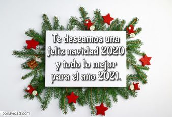 Felicitaciones bonitas para Navidad y Año Nuevo 2021