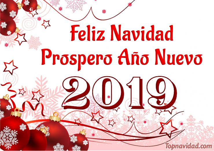 Feliz Navidad y Prospero Año Nuevo 2019