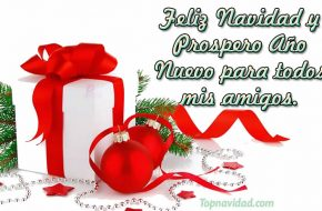 Feliz Navidad y Prospero año nuevo para compartir con amistades