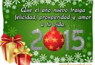 Feliz Navidad y un feliz año nuevo 2015