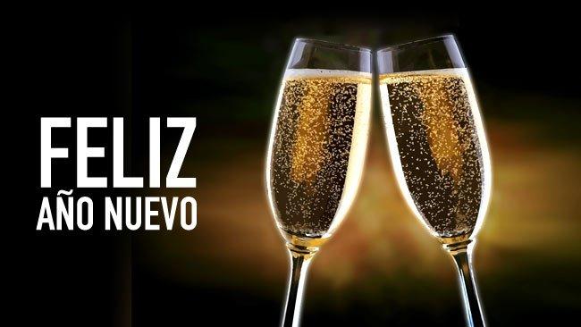 Feliz año nuevo para compartir en facebook