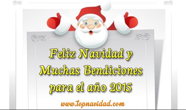 Feliz navidad y bendiciones para el año 2015