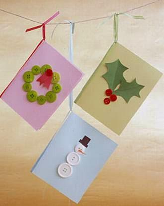 Fotos de tarjetas de navidad hechas a mano