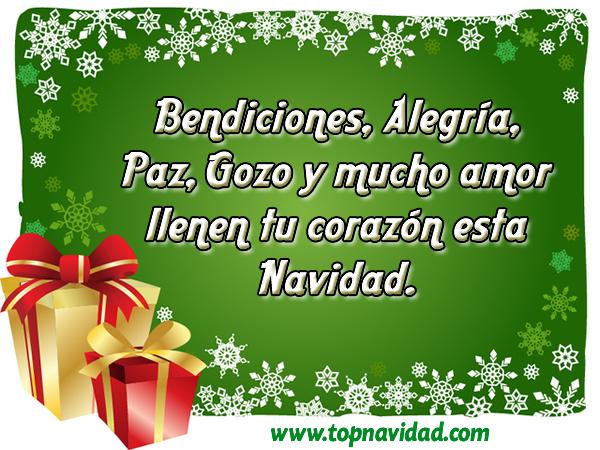 Frases de Navidad Bendiciones Amor paz y felicidad