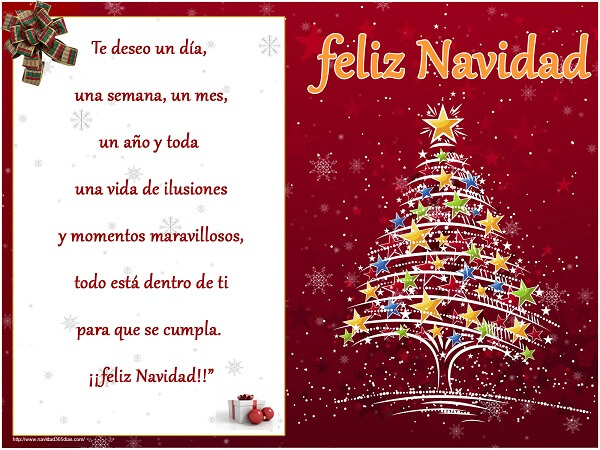 Frases de Navidad con Bonita Árbol de Navidad