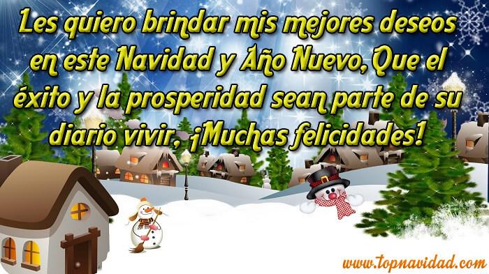 Frases de Navidad con Fondo de paisaje de Nieve