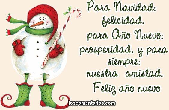 36 tarjetas y frases de navidad y a o nuevo 2018 para - Frases de feliz navidad y prospero ano nuevo ...