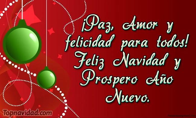 Frases de feliz navidad y Prospero Año Nuevo