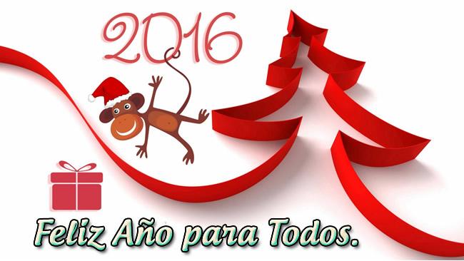 Tarjetas para felicitar en Navidad y Año Nuevo 2016