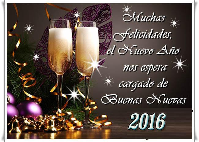Imágenes con Frases para felicitar año nuevo 2016