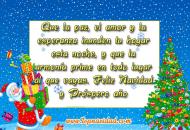 Frases Cortos de Feliz Navidad y Prospero Año Nuevo