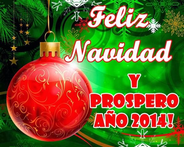 Imágenes con Frase de Feliz Navidad y Prospero Año Nuevo 2014