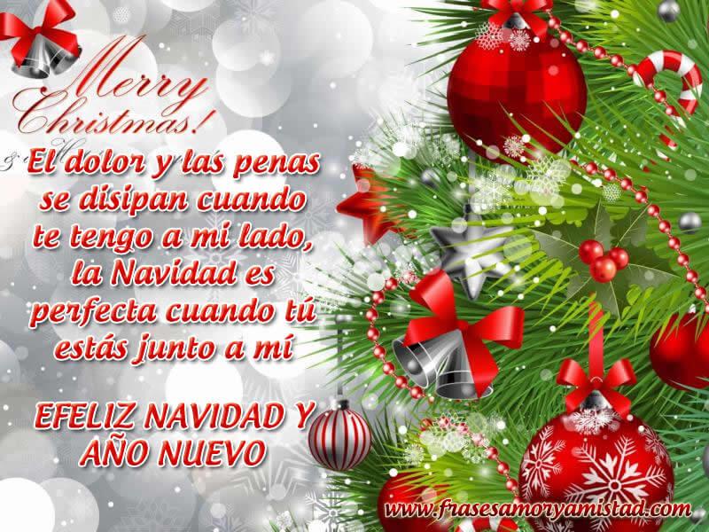 Imágenes con Frases de amor para Navidad y Año Nuevo