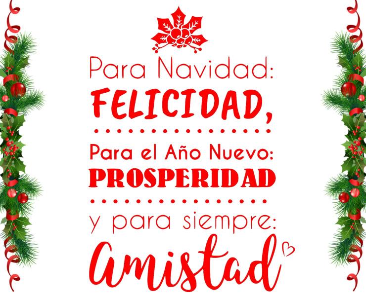 Felicitaciones regalar en navidad y año nuevo
