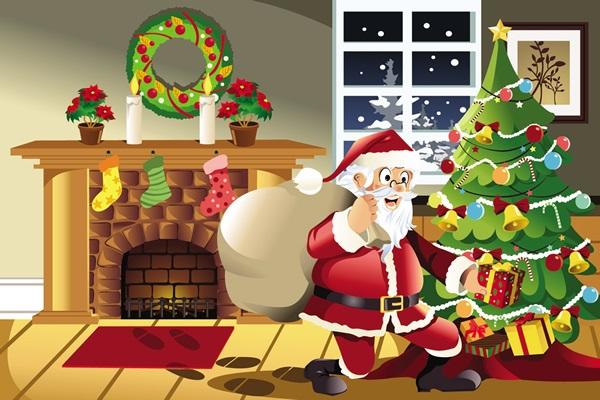 Imágenes de Papá Noel Para Compartir en Facebook