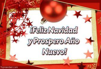 Imágenes y Frases de Feliz Navidad y Prospero Año Nuevo