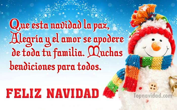 Felicitaciones de navidad para familia