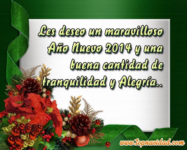 Imagenes con felicitaciones de a o nuevo 2014 frases de - Felicitaciones cortas de navidad y ano nuevo ...