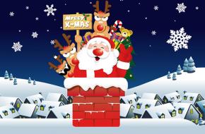 Tarjetas Postales de Papa Noel para Navidad