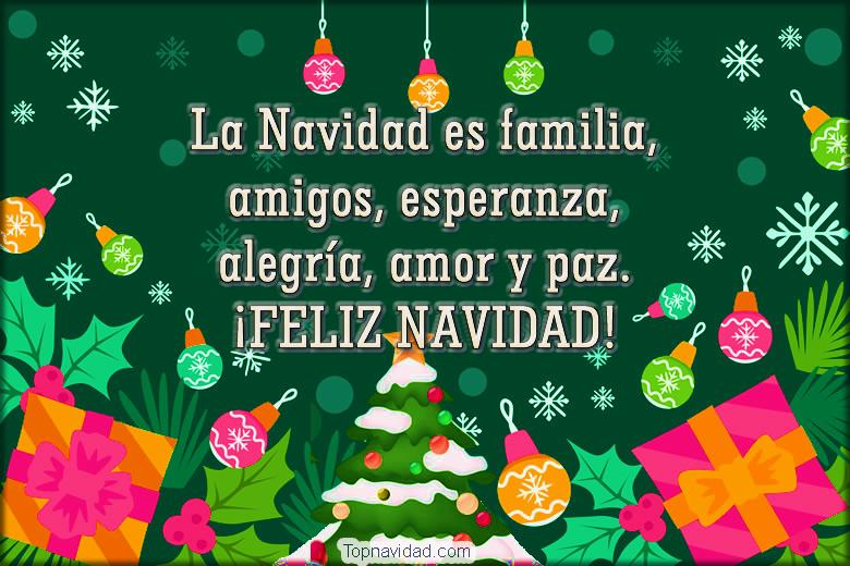 Felicitaciones para desear feliz navidad a la familia