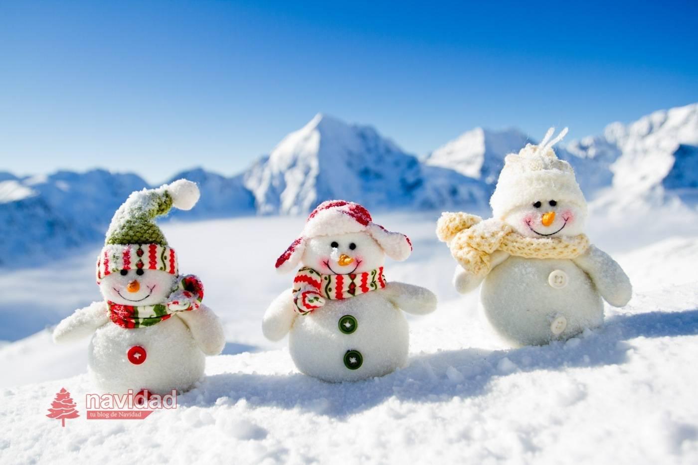 Muñecos de nieve de navidad