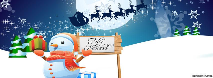 Postales de navidad para portada Facebook