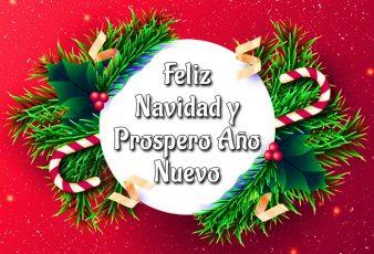 Saludos de Feliz Navidad y Prospero Año Nuevo