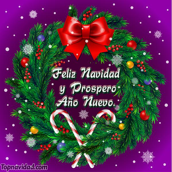 Tarjeta de Feliz Navidad y Prospero año nuevo