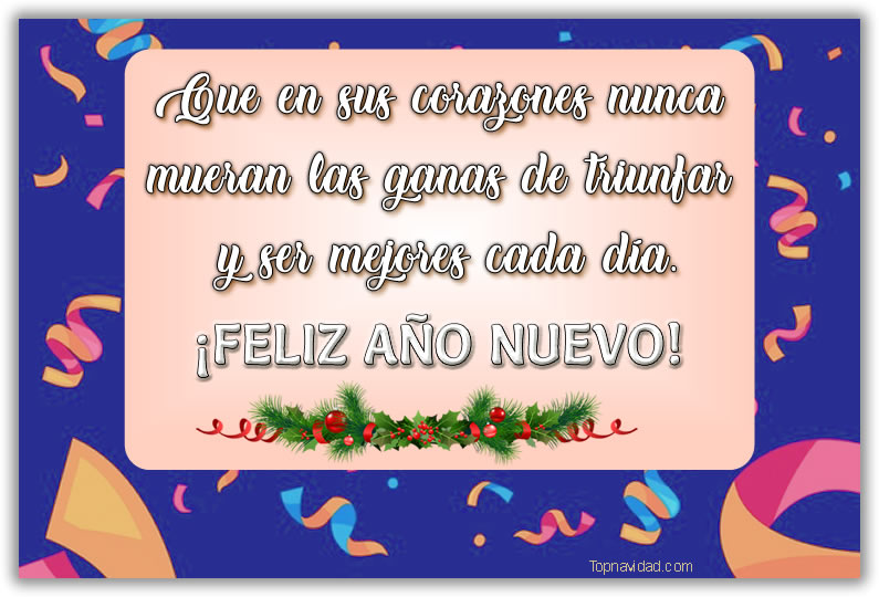 Tarjetas Feliz Año Nuevo descargar para WhatsApp y Facebook