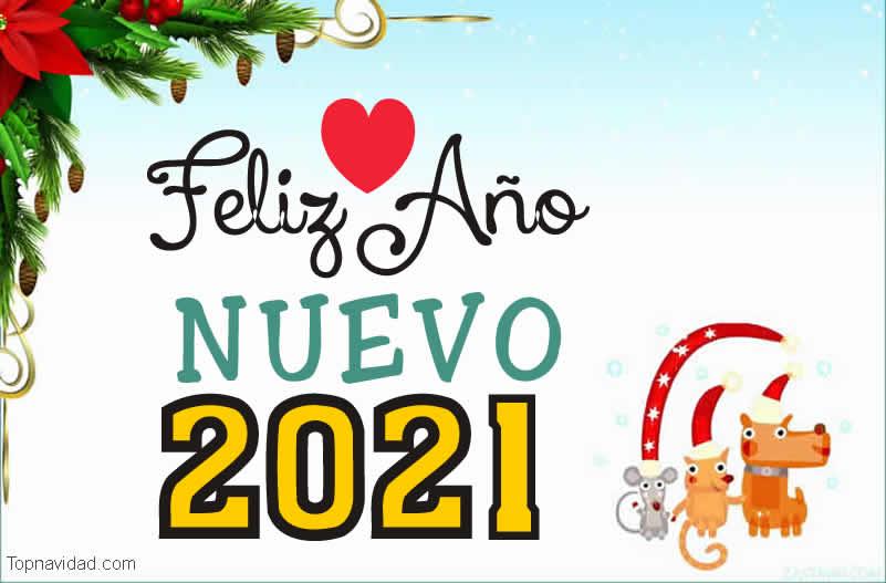 Tarjetas Postales Feliz Año Nuevo 2021