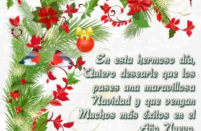 Tarjetas Postales con frases de Navidad y año nuevo