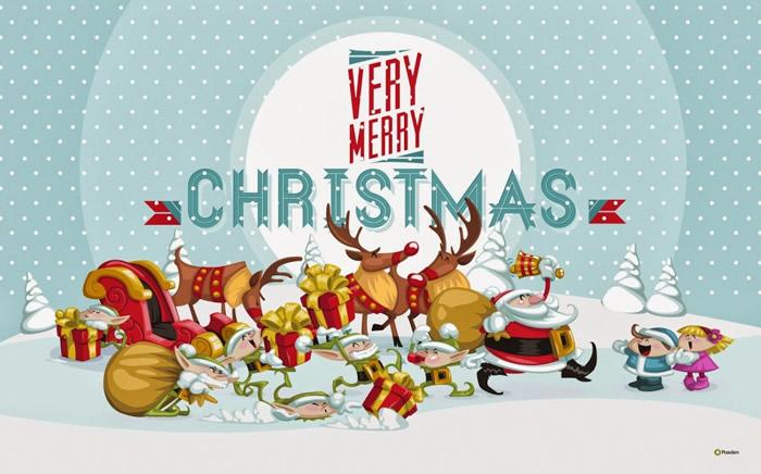 Tarjetas Postales de Merry Christmas para Compartir