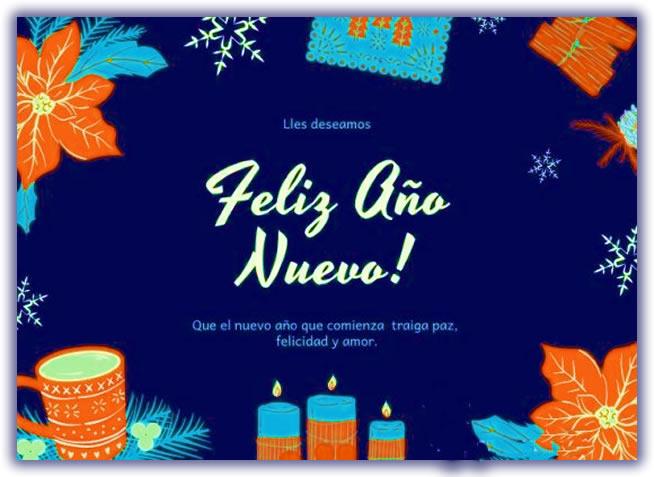 Tarjetas Virtuales de Felices Fiestas Año Nuevo Gratis