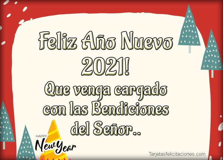 Tarjetas Virtuales de Feliz Año Nuevo 2021 para Felicitar