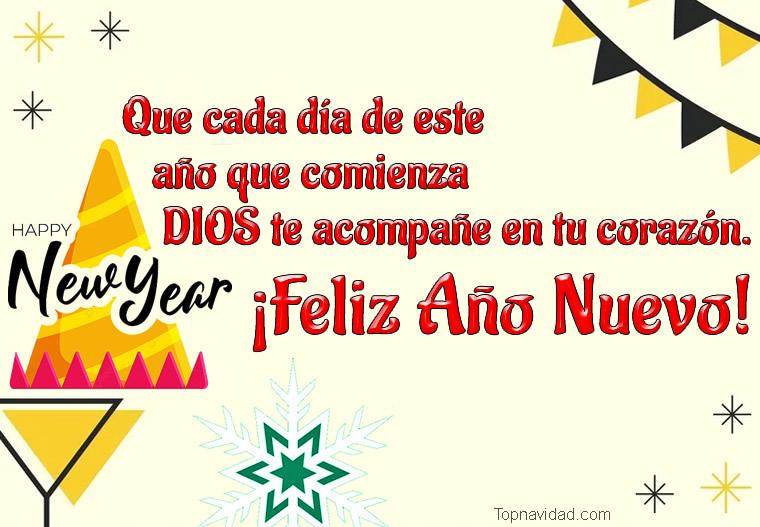 Tarjetas Virtuales de Feliz Año Nuevo para Publicar en Facebook
