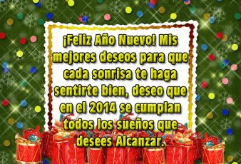 Tarjetas de Año Nuevo con Frases para Felicitar