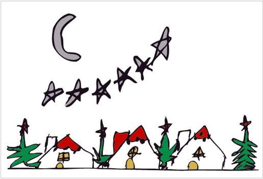 Tarjetas de Dibujos hermosos de Navidad