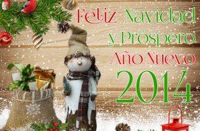 Tarjetas de Feliz Navidad y Prospero Año Nuevo 2014