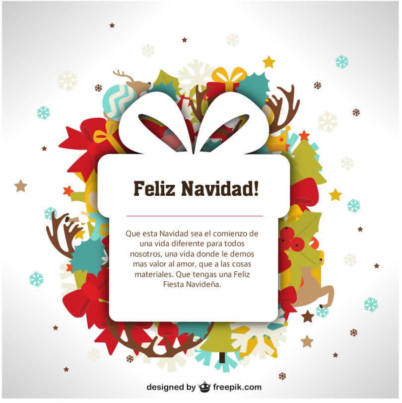 Tarjetas de Navidad con Frases Hermosas para Felicitar