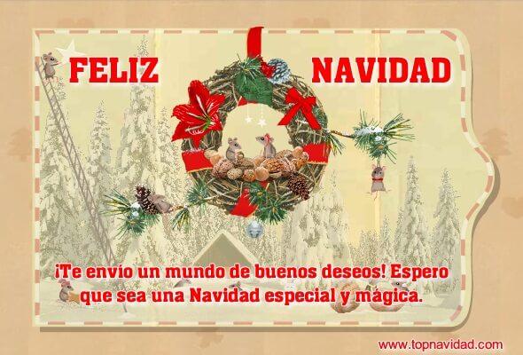 Tarjetas de Navidad con Frases de Buenos Deseos